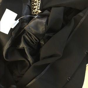 H&M Jackets & Coats - H&M gold chain embellished black jacket size 8